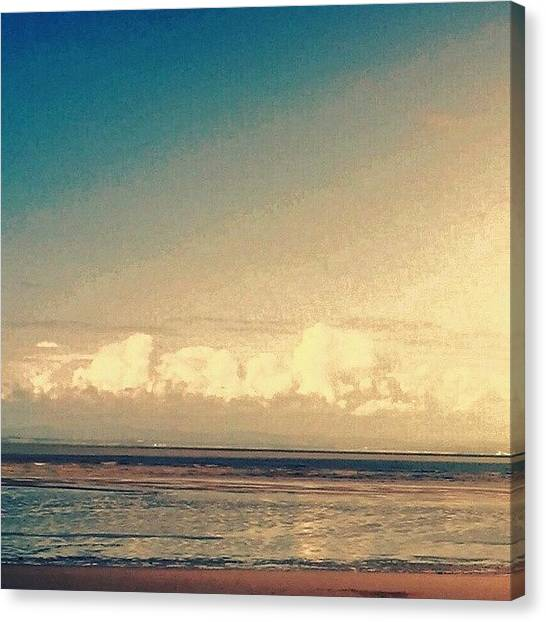 Floss Canvas Print - •low Clouds/beach•  #beach by Candy Floss Happy