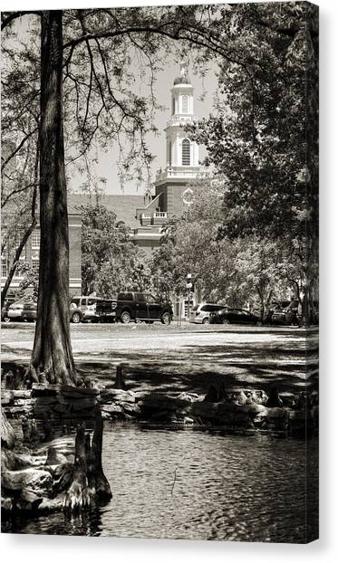 Oklahoma State University Canvas Print - Low Library by Ricky Barnard