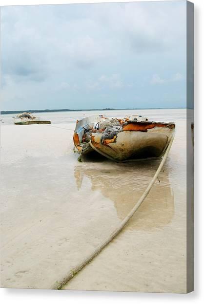 Low Tide 3 Canvas Print by Sarah-jane Laubscher