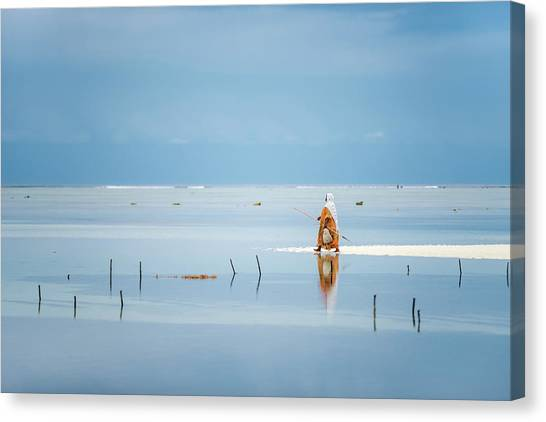 Low Tide Canvas Print - Low Tide by Anca Dumitrache