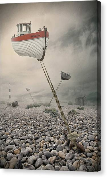 Rope Canvas Print - Low Tide by Baden Bowen