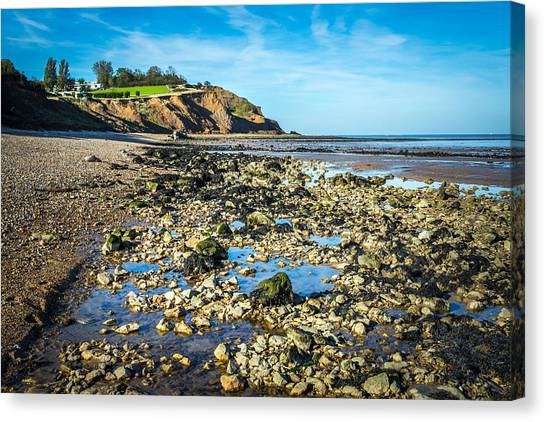 Canvas Print featuring the photograph Low Tide. by Gary Gillette