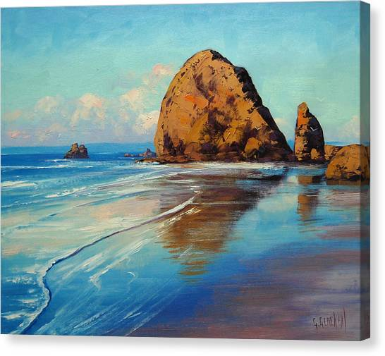 Oregon Canvas Print - Low Tide Oregon by Graham Gercken