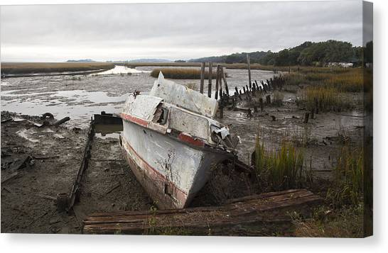 Low Tide Panorama Canvas Print