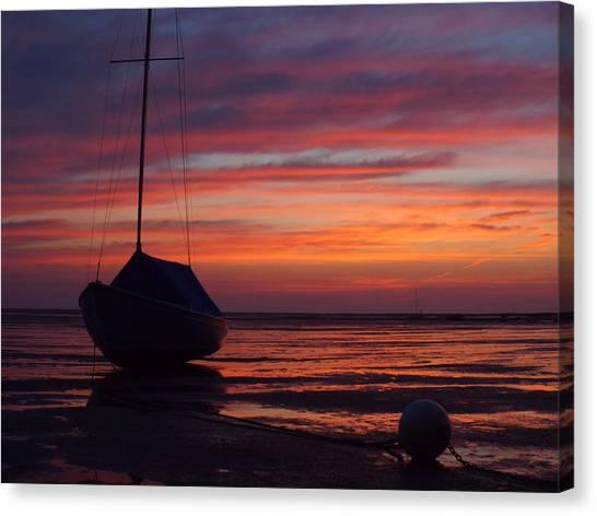 Sunrise At Low Tide Canvas Print