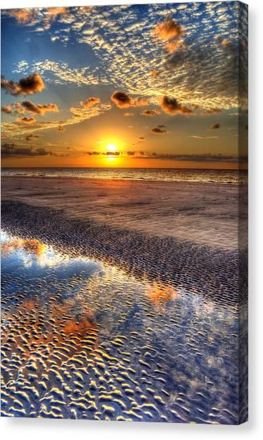 Low Tide Sunrise On Jekyll Island Canvas Print