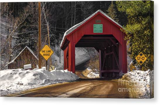 Lower Covered Bridge. Canvas Print