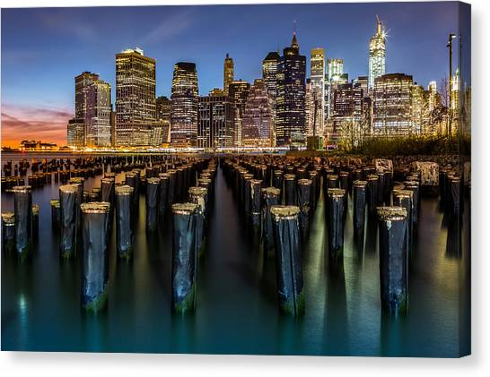 Lower Manhattan Canvas Print