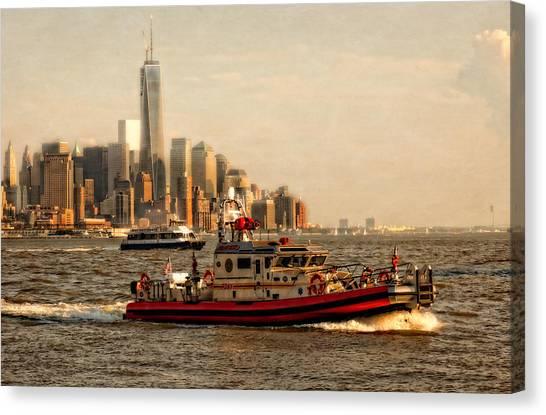 Lower Manhattan New York Canvas Print