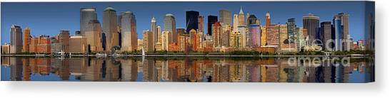 The City That Never Sleeps Canvas Print - Lower Manhattan Skyline by Susan Candelario