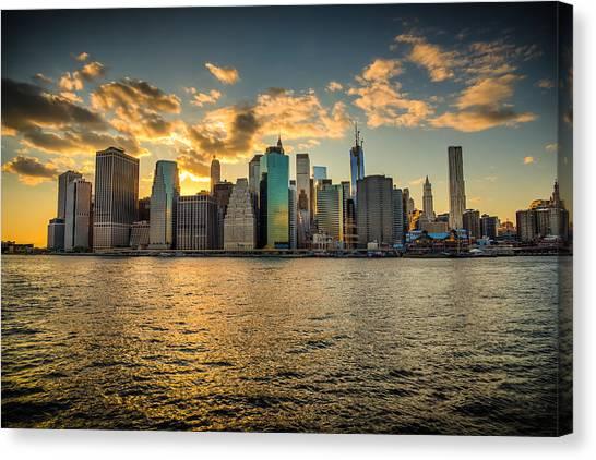 Lower Manhattan Sunset Canvas Print