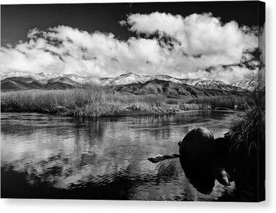 White River Canvas Print - Lower Owens River by Cat Connor