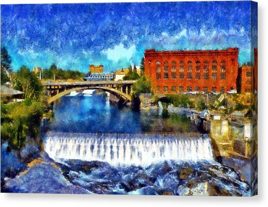 Lower Spokane Falls Canvas Print