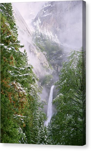Lower Yosemite Falls After A Spring Storm Canvas Print