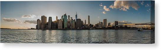 Lowerr Manhattan Panoramic Canvas Print