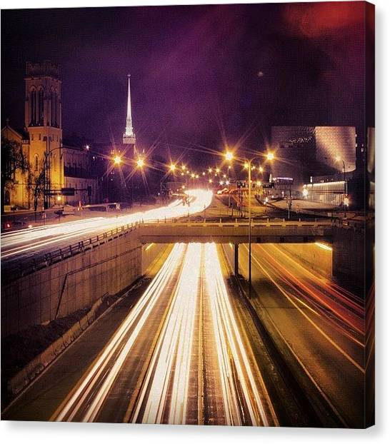 Interstates Canvas Print - #lowryhill #tunnel #longexposure by Mike S