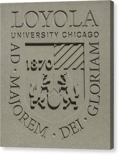 Loyola University Chicago Canvas Print - Loyola Emblem by Greg Thiemeyer