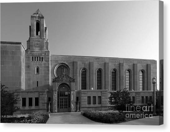 Loyola University Chicago Canvas Print - Loyola University Cudahy Library by University Icons