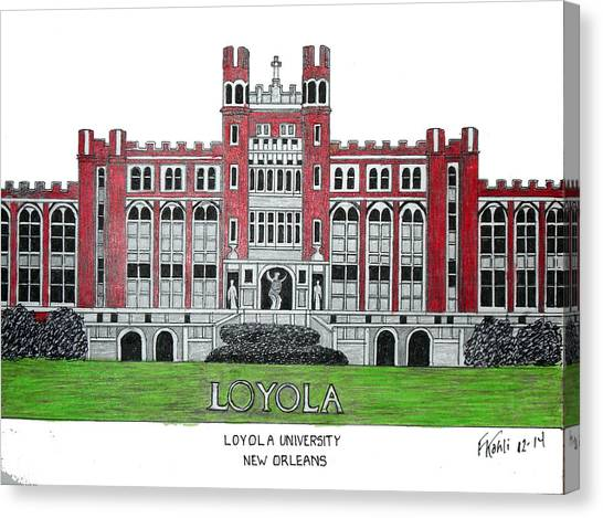 Mvc Canvas Print - Loyola University New Orleans by Frederic Kohli