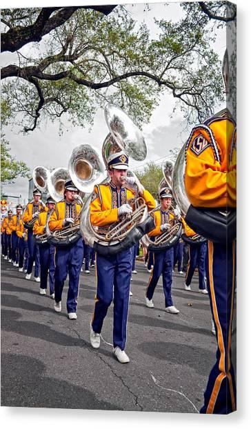 Louisiana State University Lsu Canvas Print - Lsu Marching Band 2 by Steve Harrington