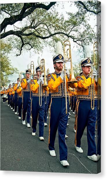 Louisiana State University Lsu Canvas Print - Lsu Marching Band 3 by Steve Harrington