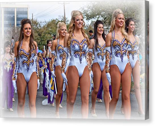 Louisiana State University Lsu Canvas Print - Lsu Marching Band 4 by Steve Harrington
