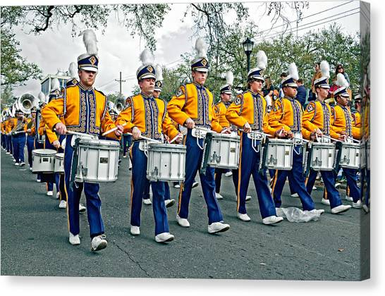 Louisiana State University Lsu Canvas Print - Lsu Marching Band by Steve Harrington