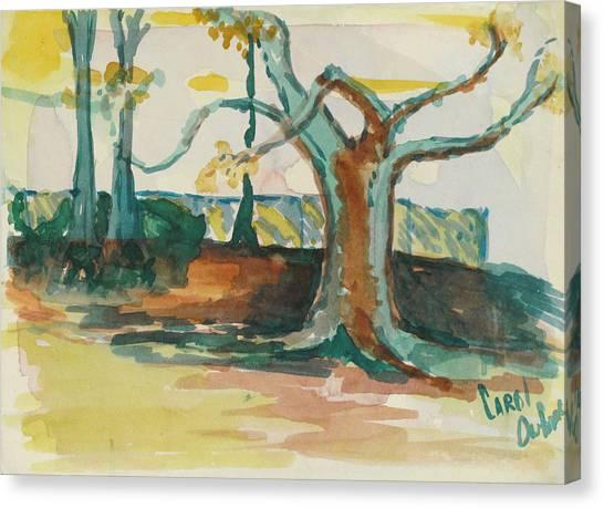 Lsu Oaks Cypress Knees Canvas Print