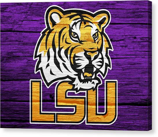 Louisiana State University Lsu Canvas Print - Lsu Tigers Barn Door by Dan Sproul