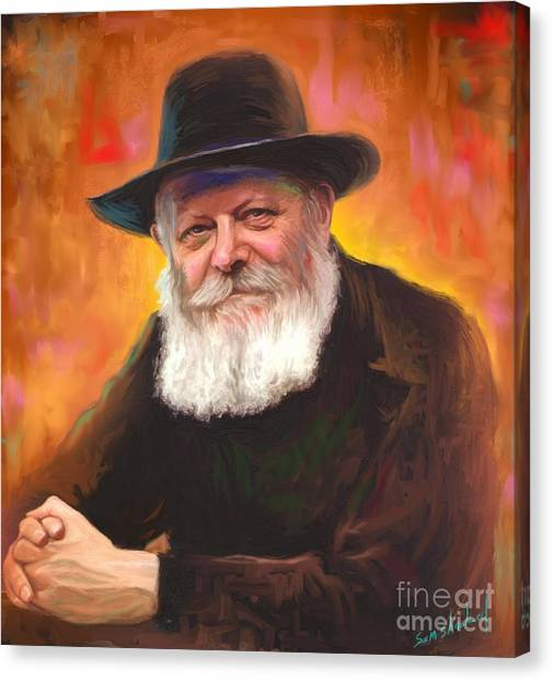Judaism Canvas Print - Lubavitcher Rebbe by Sam Shacked