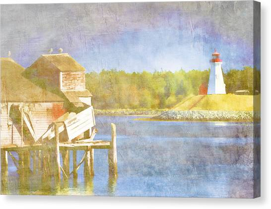 New Brunswick Canvas Print - Lubec Maine To Campobello Island by Carol Leigh