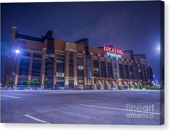 Indiana Pacers Canvas Print - Lucas Oil Stadium Indianapolis Colts by David Haskett II
