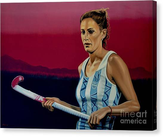 Hockey Players Canvas Print - Luciana Aymar by Paul Meijering