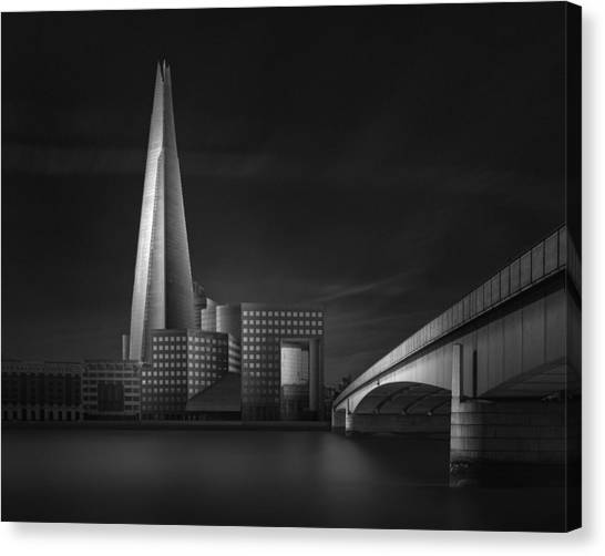 Modern Architecture Canvas Print - Lucid Dream II - The Shard & London Bridge by Oscar Lopez