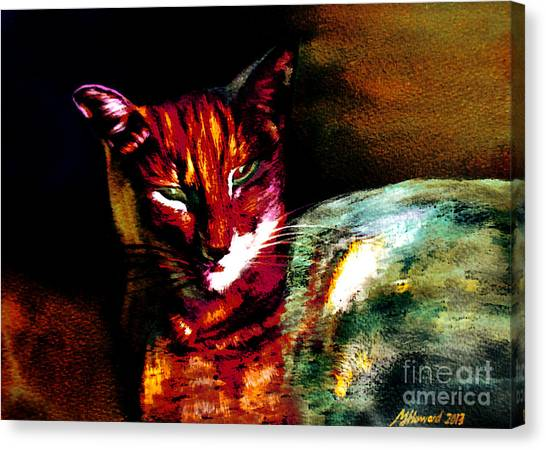 Lucifer Sam Tiger Cat Canvas Print