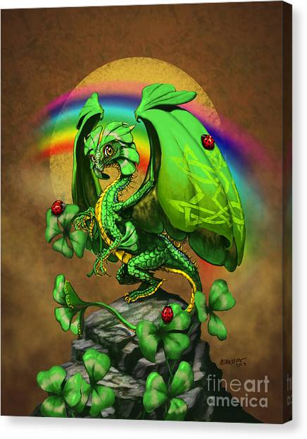 Clover Canvas Print - Luck Dragon by Stanley Morrison