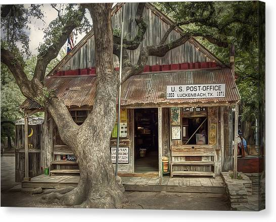 Bar Canvas Print - Luckenbach 2 by Scott Norris