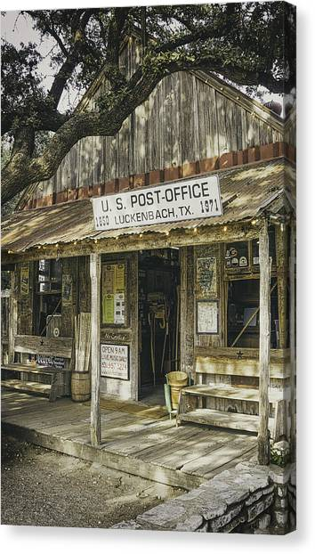 Wooden Canvas Print - Luckenbach by Scott Norris