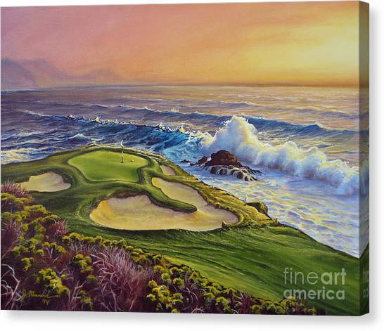 Golf Canvas Print - Lucky Number 7 by Joe Mandrick