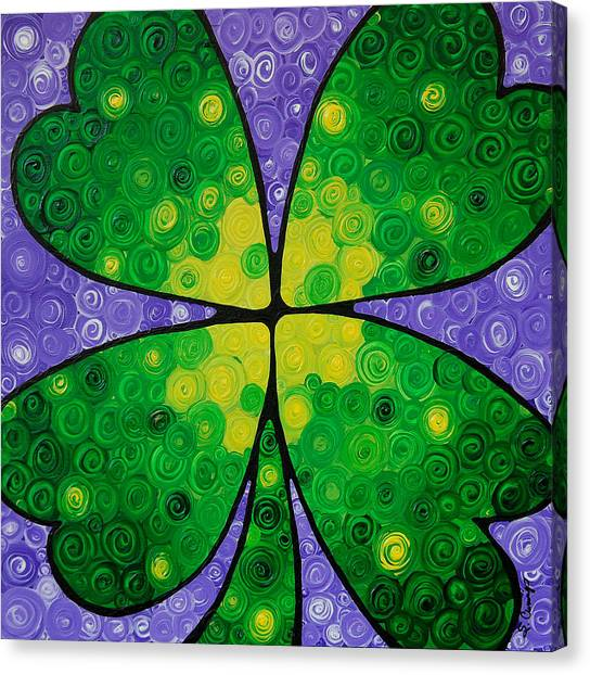 Clover Canvas Print - Lucky One by Sharon Cummings