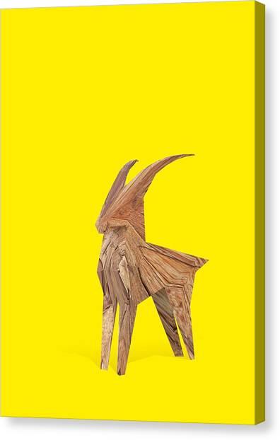 Goat Canvas Print - Lucky Rampant by Pollyanna Illustration