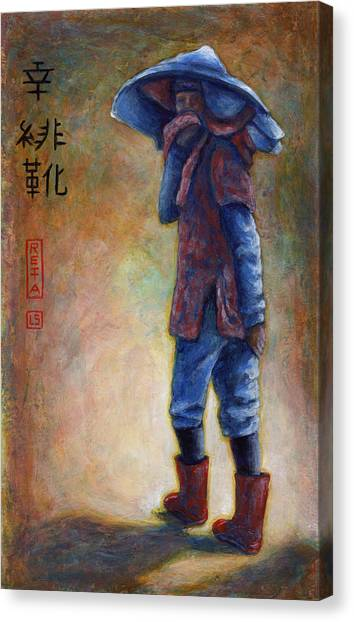 Lucky Red Boots Canvas Print