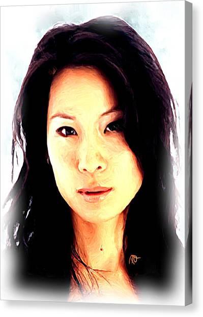 Lucy Liu Canvas Print - Lucy Liu  by Paul Quarry