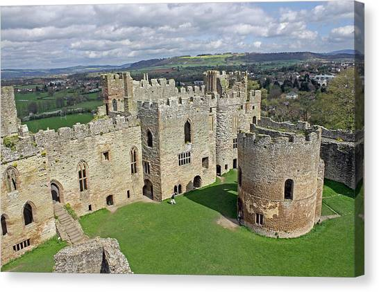 Ludlow Castle Chapel And Great Hall Canvas Print