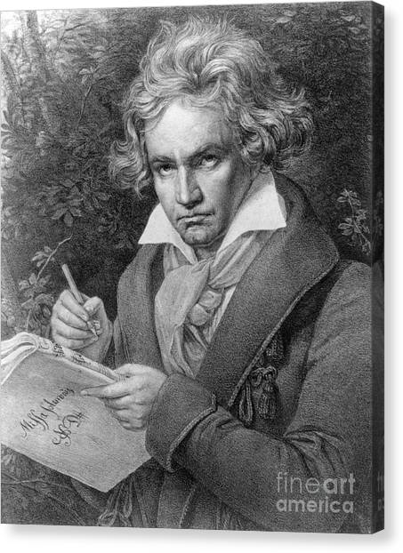 Compose Canvas Print - Ludwig Van Beethoven by Joseph Carl Stieler