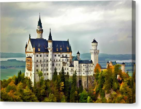 Neuschwanstein Castle In Bavaria Germany Canvas Print