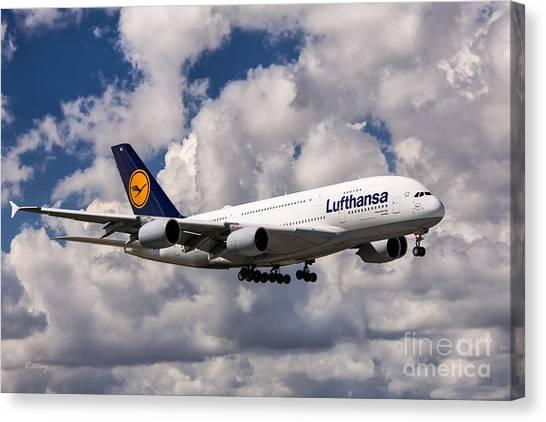Lufthansa A380 Hamburg Canvas Print