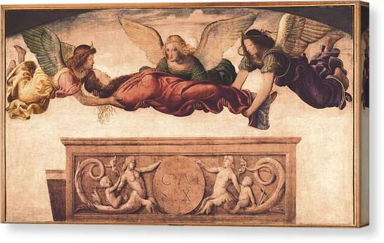Undertaker Canvas Print - Luini, Bernardino 1480-1532. St by Everett