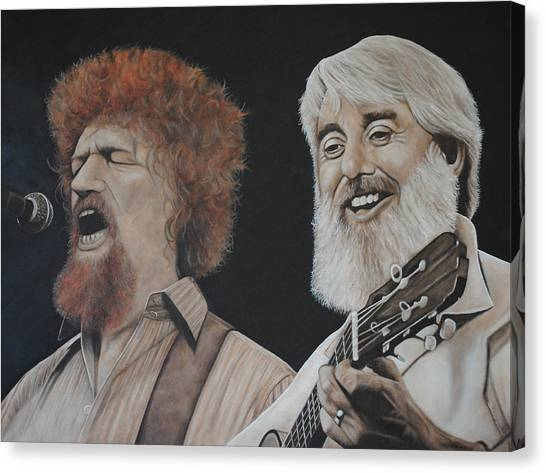 Luke Kelly And Ronnie Drew Canvas Print