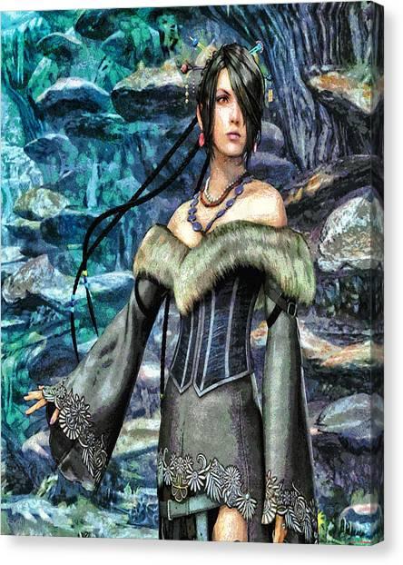 Final Fantasy Canvas Print - Lulu by Joe Misrasi